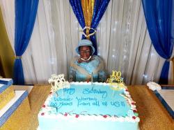 Ethlin Blake celebrates her 100th birthday.